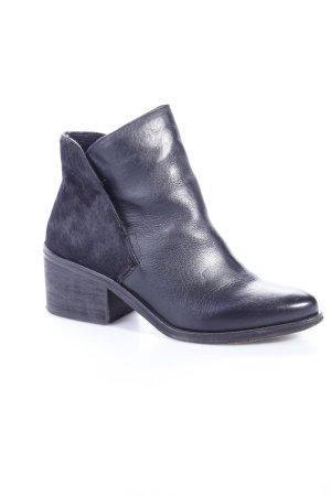Lazamani Ankle Boots Fellbesatz Schwarz