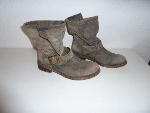Lazamani Boots Stiefeletten Gr. 38 beige used effekt