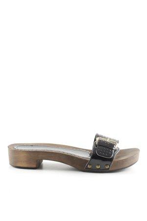 Lazamani Clog Sandals black casual look