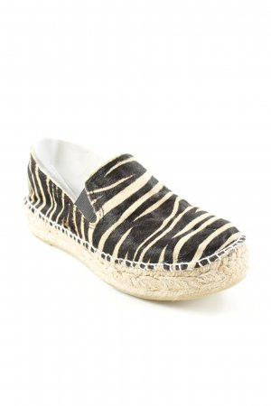 Lazamani Espadrille Sandals black-sand brown animal pattern casual look