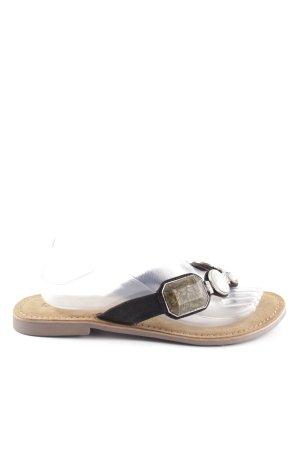 Lazamani Flip-Flop Sandals black-natural white casual look