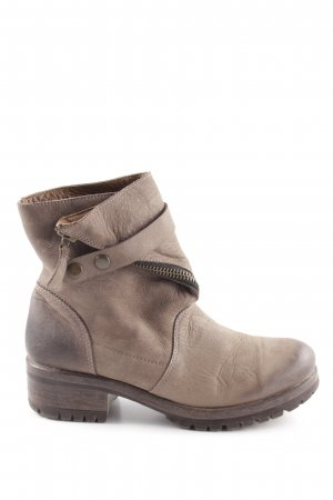 Lazamani Short Boots grey brown biker look
