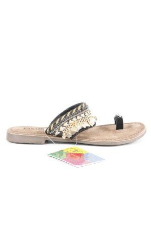 Lazamani Toe-Post sandals grey brown-black extravagant style