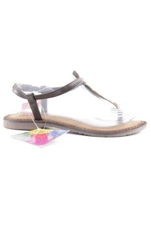 Lazamani Toe-Post sandals black brown-beige animal pattern Boho look