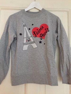 "Lazy Oaf Sweatshirt ""J'aime Paris"" - grau - S"