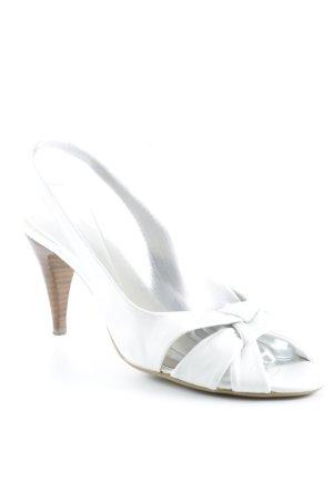 lazzarini Slingback-Pumps weiß-beige Elegant