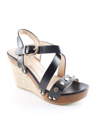 LB Wedges Sandaletten mehrfarbig Elegant
