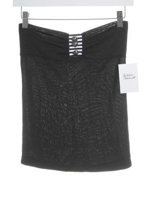LCN Stretchrock schwarz-weiß Street-Fashion-Look