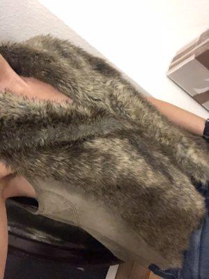 Fake Fur Vest light brown