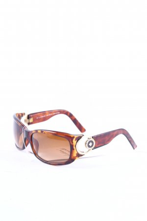 Le Club Actif ovale Sonnenbrille Animalmuster Casual-Look
