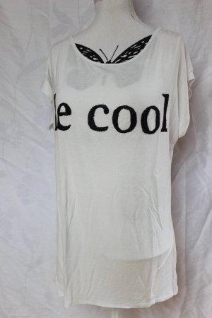 Le Cool Shirt Weiß/Schwarz Gr. XL