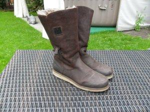 Le Coq Leder Boots/Stiefel,dunkelbraun,Gr.39 Echtleder+Fell