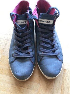 Le coq sportif Sneakers met veters korenblauw-roze