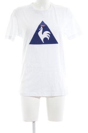 Le coq sportif T-Shirt weiß-blau Casual-Look