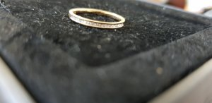 Diamant Gold Ring sand brown real gold