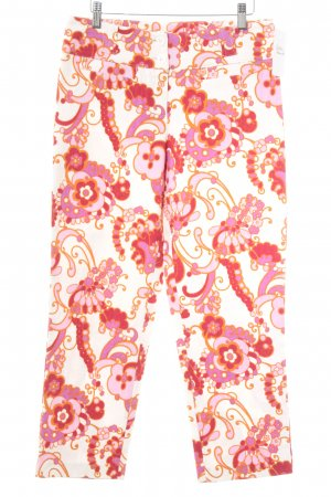 Le group woman Stoffhose florales Muster Casual-Look