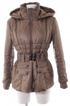 Le group woman Winterjacke graubraun Steppmuster Casual-Look