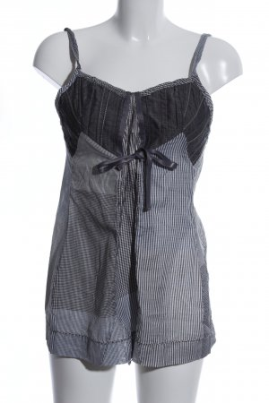 Le Jean De Marithé + Francois Girbaud Blouse Top light grey-white check pattern