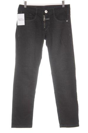 Le Jean De Marithé + Francois Girbaud Low-Rise Trousers black check pattern