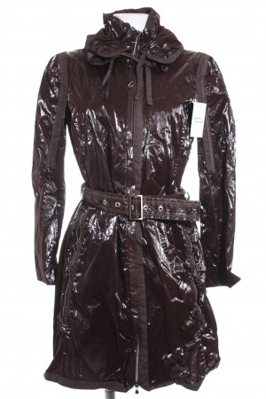 Le Jean De Marithé + Francois Girbaud Heavy Raincoat dark brown casual look