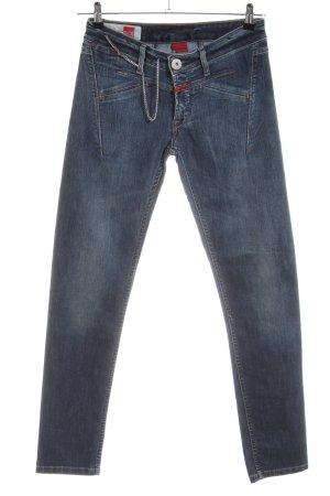 Le Jean De Marithé + Francois Girbaud Stretch jeans zwart casual uitstraling