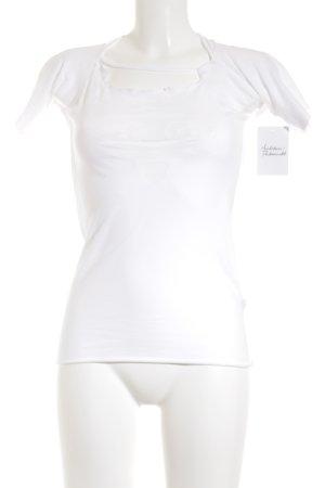 Le Jean De Marithé + Francois Girbaud T-Shirt weiß platzierter Druck