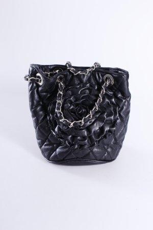 Handtas zwart-zilver Polyurethaan