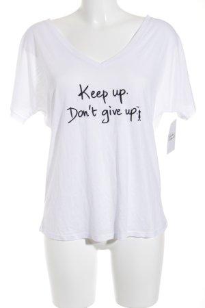 Le Motto Print-Shirt weiß-schwarz Casual-Look