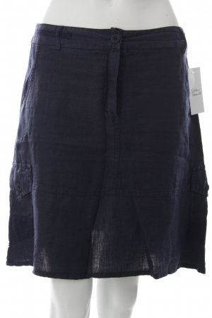 Le Phare Linnen rok donkerblauw casual uitstraling