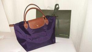 Longchamp Sac Baril violet nylon