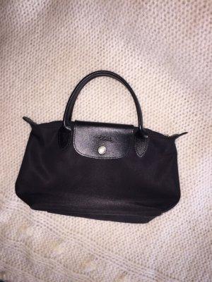 Longchamp Minitasje zwart-zilver
