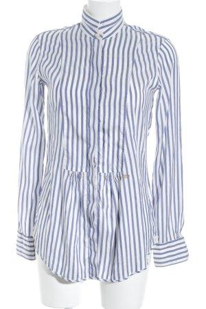 Le Sarte Pettegole Hemd-Bluse weiß-blau Streifenmuster Elegant