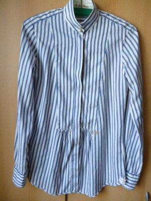 Le Sarte Pettegole Seiden-Hemdbluse weiß-blau gestreift DE 38 fällt kleiner aus