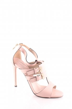 Le Silla Strapped High-Heeled Sandals light pink classic style