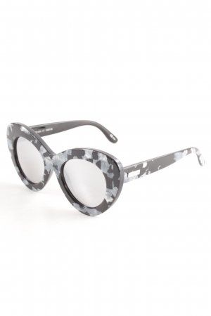 Le Specs Glasses black-light grey spots-of-color pattern classic style