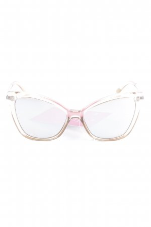 "Le Specs Butterfly Brille ""Naked Eyes"" silberfarben"