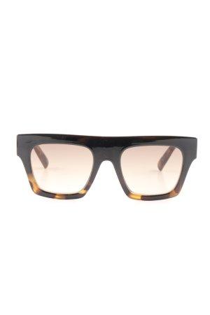 Le Specs Angular Shaped Sunglasses black-sand brown street-fashion look