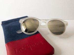"""LE SPECS """"Hey Macarena"""" Sonnenbrille Weiß Transparent Verspiegelte Gläser NEU"""