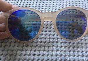 Le Specs Occhiale da sole rotondo rosa pallido