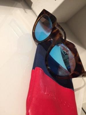 Le Specs Neo Noir Blau Verspiegelt