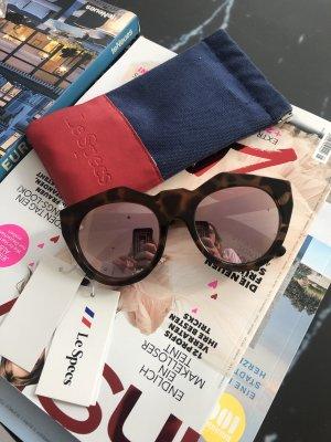 Le Specs Occhiale da sole ovale color oro rosa-marrone