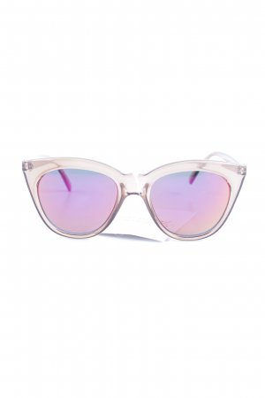 Le Specs ovale Sonnenbrille hellbraun Beach-Look