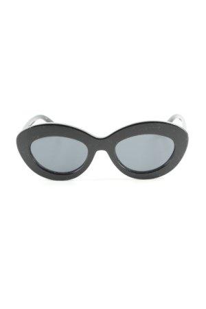 Le Specs ovale Sonnenbrille schwarz Elegant
