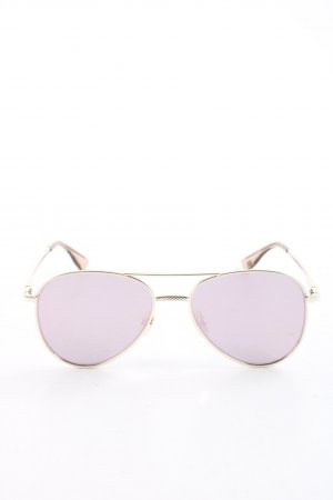 Le Specs Aviator Glasses gold-colored-lilac casual look