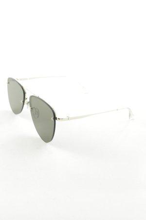 Le Specs Pilot Brille grün-goldfarben Street-Fashion-Look