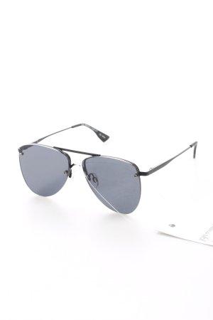 Le Specs Pilot Brille schwarz Casual-Look