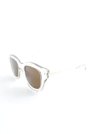Le Specs Retro Brille creme-braun Casual-Look
