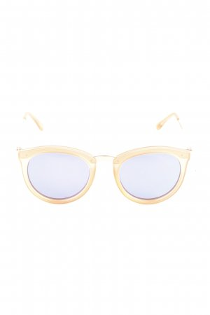 Le Specs Retro Brille hellorange Casual-Look
