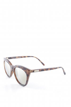 Le Specs Retro Brille schwarz-braun Street-Fashion-Look