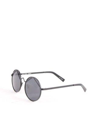 Le Specs Retro Brille schwarz Retro-Look